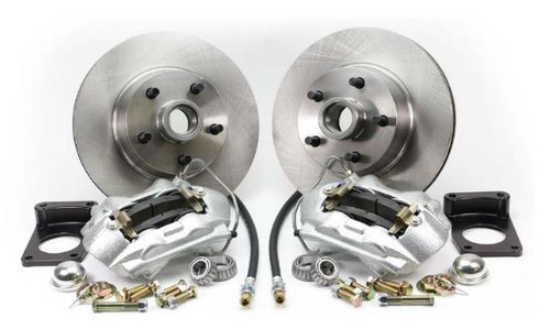 1970-1973 Ford Mustang Front Disc Brake Kit V-8 w/o Master 4 Piston Caliper