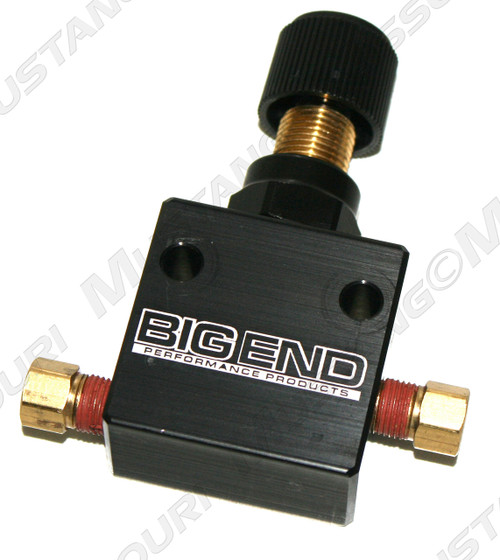 1964-1973 Ford Mustang disc brake proportioning valve by Big End.  This aftermarket proportioning valve is far superior to the original equipment.