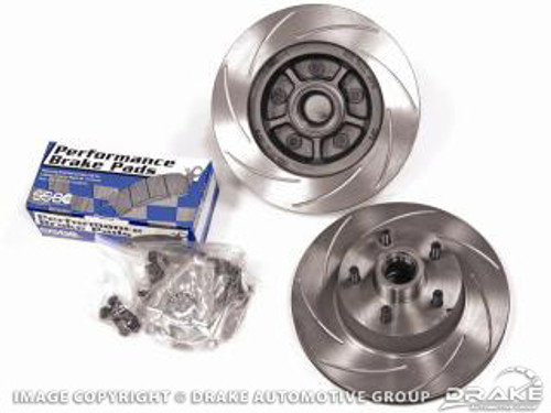 1965-1967 Ford Mustang or Cougar front rotor upgrade kit.