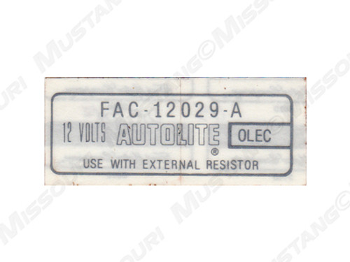 1965-72 Coil Decal