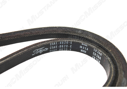 Closeup of a 1965 Mustang Power Steering Belt