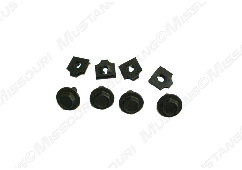 1968-1970 Ford Mustang cooling fan shroud mounting kit, 8 piece kit.