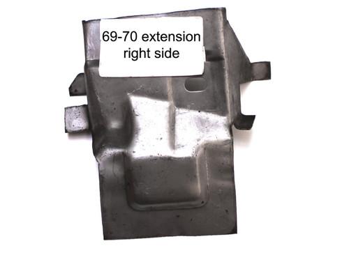 1969-70 Rear Fender Apron Extension
