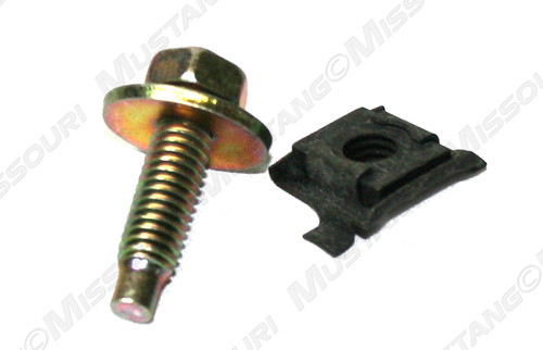 1964-1970 Ford Mustang lower fender to cowl cage nut & bolt.