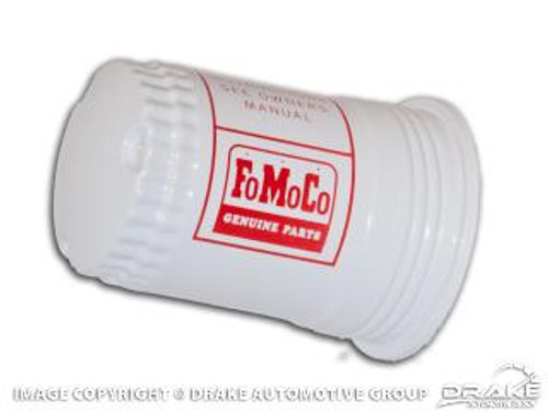 1964-65 Fuel Filter Cannister FoMoCo White/Red