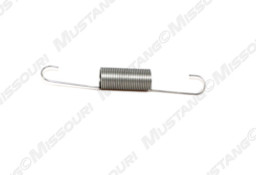 1964-1966 Ford Mustang accelerator linkage rod retracting spring, 6 cylinder, stainless steel.
