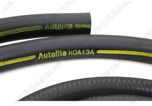 Late 1970 Ford Mustang heater hose for models with factory air conditioning. Concours correct.  This hose is for models made after 2-1-70.