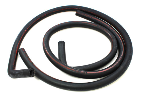 Late 1968 Ford Mustang heater hose for models with factory air conditioning. Concours correct.  This hose is for models made after 2-1-68.