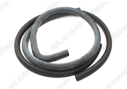 Early 1970 Ford Mustang heater hose for models with factory air conditioning. Concours correct.  This hose is for models made before 2-1-70.
