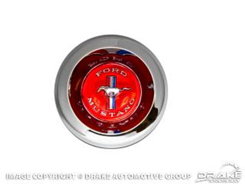 1967-68 Wire Spoke Center Cap Red