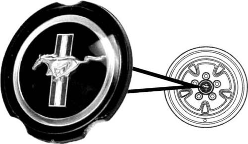1970-73 Mag Wheel Hubcap Emblem