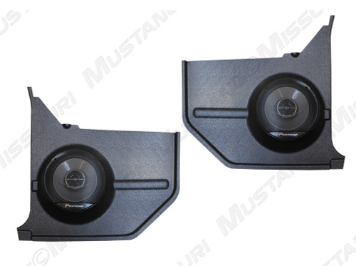 1964-1968 Ford Mustang convertible molded kick panels with Pioneer speakers.