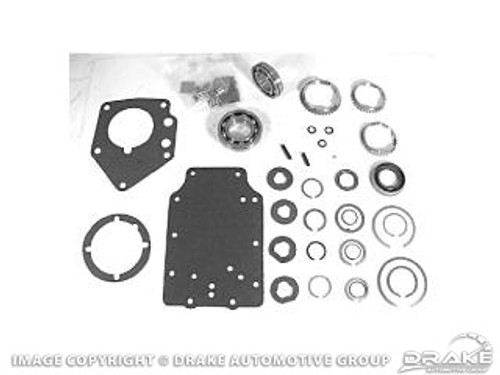 1964-1966 Ford Mustang manual transmission master rebuild kit, 6 cylinder, 3 speed, 2.77 ratio.