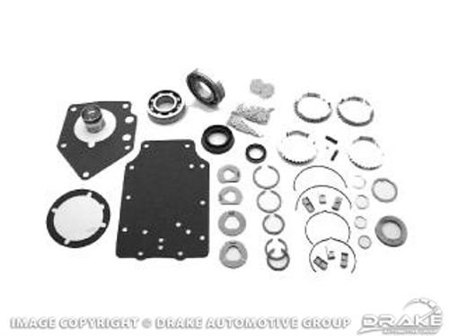 "1967-1973 Ford Mustang manual transmission master rebuild kit, big block, 4 speed toploader with 1 3/8"" output."