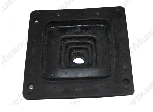 Underside of 1964-1968 Ford Mustang shift boot, manual for 3 and 4 speed transmissions.
