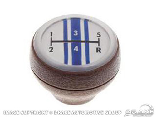 1968-1969 Ford Mustang 5-speed manual shift knob, deluxe interior.