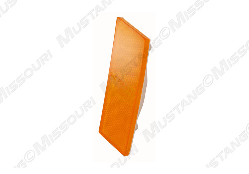 1970 Ford Mustang front side marker light lens with Ford logo.