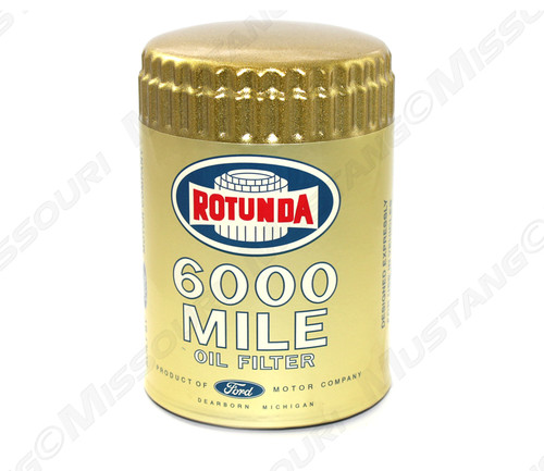 1964-1966 Ford Mustang Concours Oil Filter Gold 6000 Mile