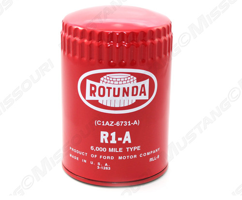 1964-1966 Ford Mustang Concours Oil Filter Red Rotunda