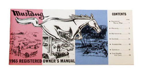 1964 Ford Mustang owners manual.
