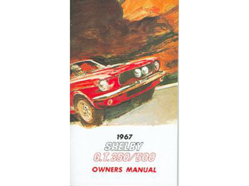 1967 Ford Mustang Shelby Owners Manual