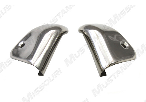 1965-1967 Ford Mustang coupe quarter interior trim cap, pair. Fits Pony interior and 1967 Deluxe interior.