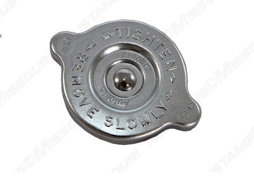 1967-1971 Ford Mustang concours radiator cap, chrome plated, Autolite.  This concours quality radiator cap is made in America and have all the original markings.
