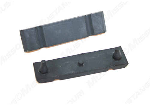1967-1970 Ford Mustang radiator upper mounting bracket pads, pair.