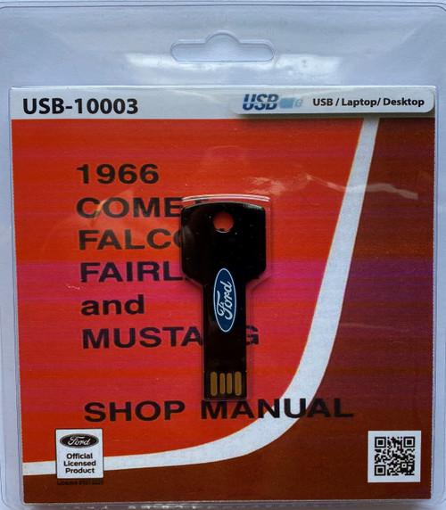 1966 Ford Mustang shop manual, digital format.