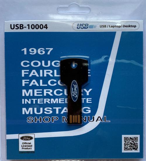 1967 Comet, Falcon, Fairlane, and Mustang Shop Manual, digital format.
