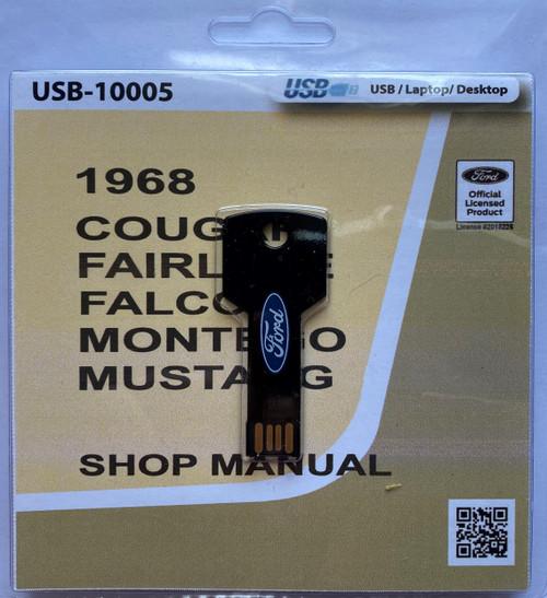 1968 Comet, Falcon, Fairlane, Mustang Shop Manual, digital format.