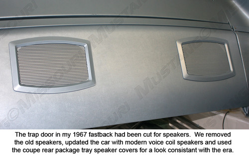 1964-1970 Ford Mustang rear speaker grille.