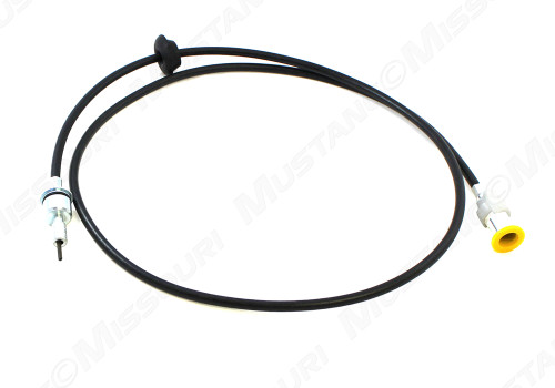 1969-1972 Ford Mustang speedometer cable, 4 speed manual transmission.  Exactly like original, firewall grommet included.