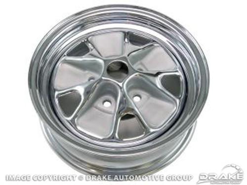 1964 Styled Steel Wheel 14 x 5 Argent