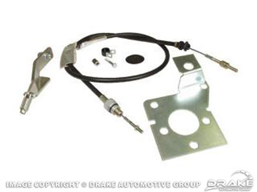 1967-1968 Ford Mustang clutch cable kit.