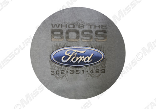 Who's The Boss Mustang t-shirt. Front