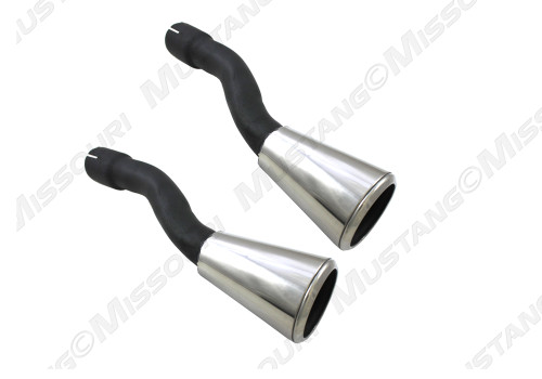 1965-66 Ford Mustang GT exhaust trumpets.