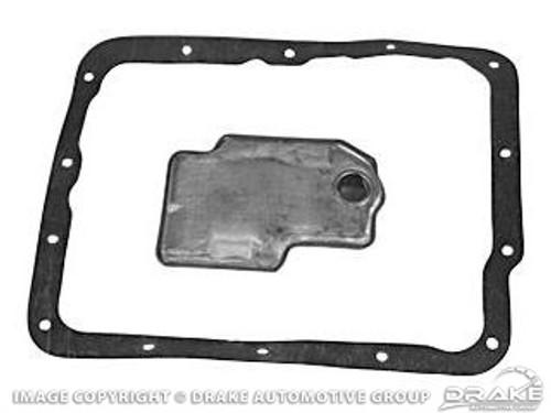 1969-1973 Ford Mustang transmission filter and gasket, FMX transmission, kit.