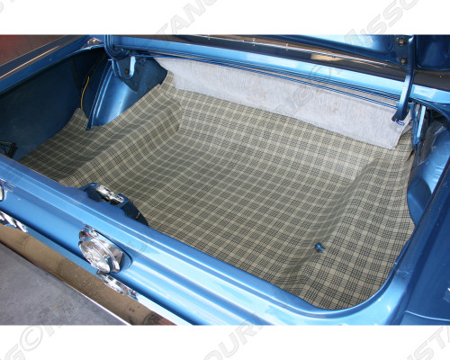 1967 Ford Mustang Trunk Mat Burtex Plaid