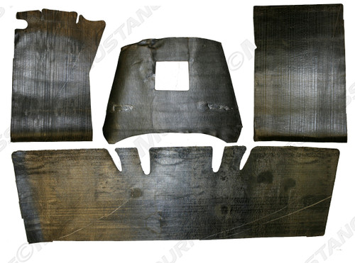 1964-1973 Ford Mustang Coupe, Convertible and Fastback carpet underlayment kit by Repops™.