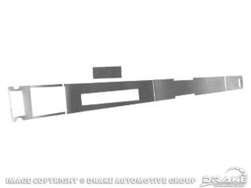 1967 Console Aluminum Overlay Set