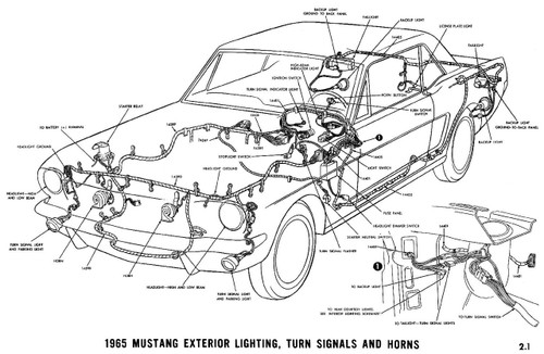 1964-1973 Ford Mustang Vacuum and Wiring Diagrams.