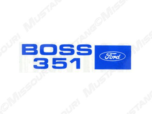 1971 Boss 351 Valve Cover Decals