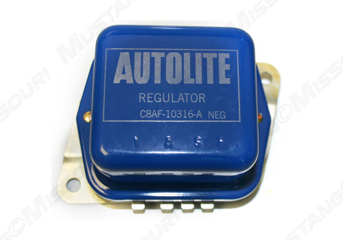 This is an example of the 1968-1970 Ford Mustang voltage regulator for models without air conditioning.