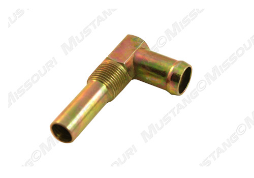1964-1973 Ford Mustang Water Inlet Elbow Small Block Gold Zinc