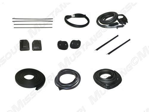 1969-1970 Ford Mustang Fastback basic weatherstrip kit.