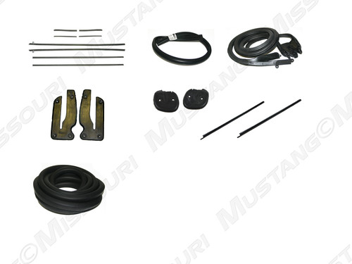 1969-1970 Ford Mustang Convertible weatherstrip kit, basic.