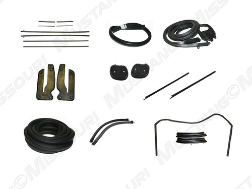 1969-1970 Ford Mustang Convertible deluxe weatherstrip kit.