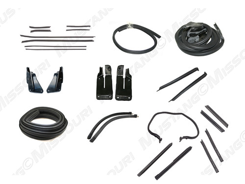 1971-1973 Ford Mustang Convertible weatherstrip kit, basic.