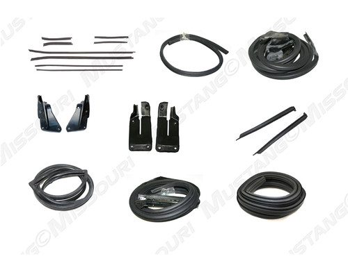 1971-1973 Ford Mustang Fastback basic weatherstrip kit.